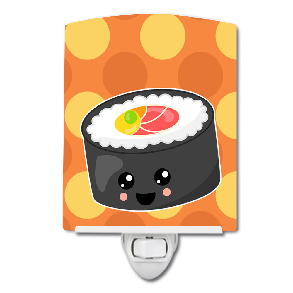 Sushi Roll with Face Ceramic Night Light BB8802CNL by Caroline's Treasures