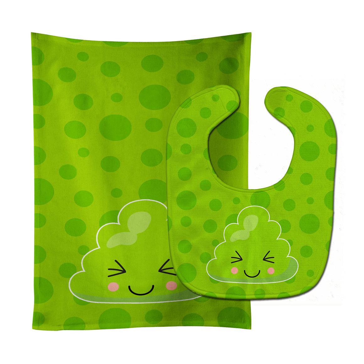 Buy this Sushi Wasabi Baby Bib & Burp Cloth BB8806STBU