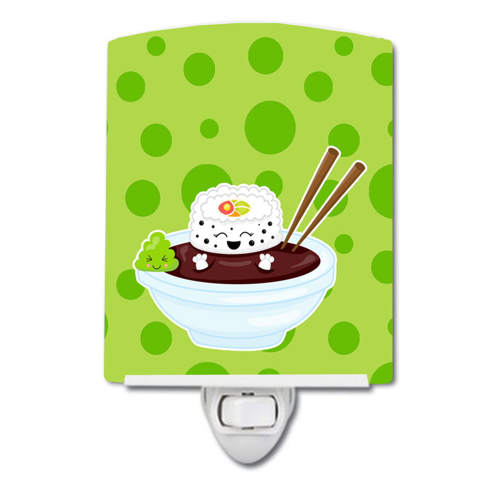 Sushi Bowl Ceramic Night Light BB8807CNL by Caroline's Treasures