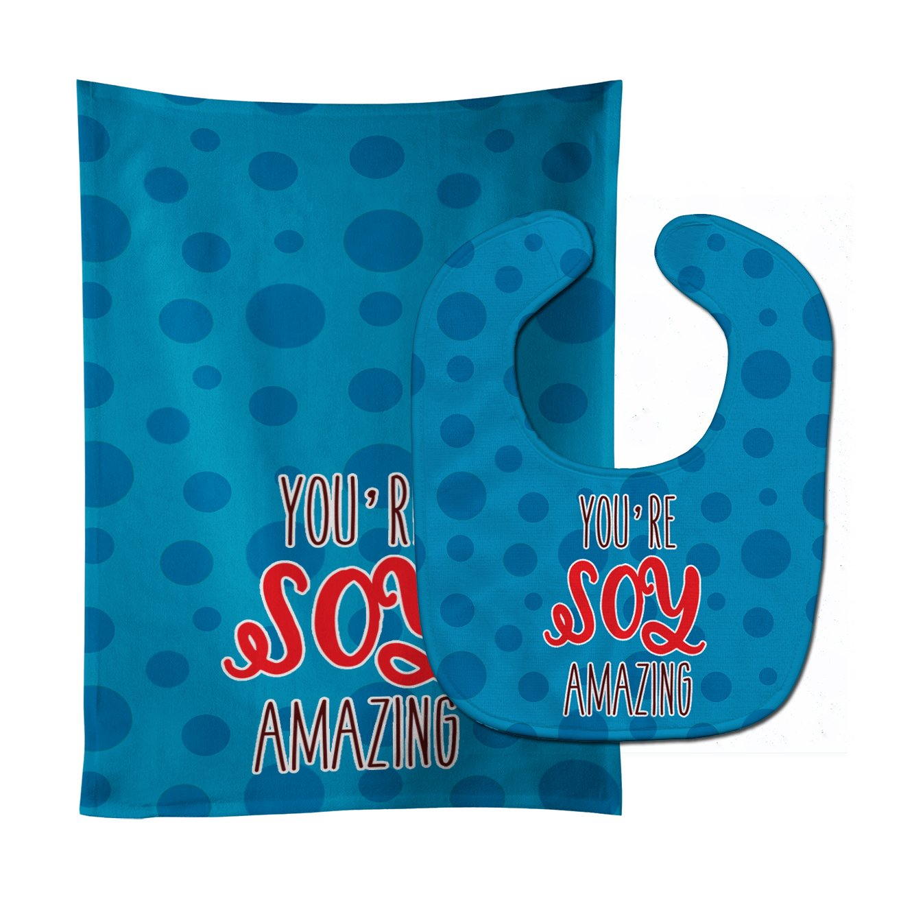 Buy this Sushi You're Soy Amazing Baby Bib & Burp Cloth BB8812STBU