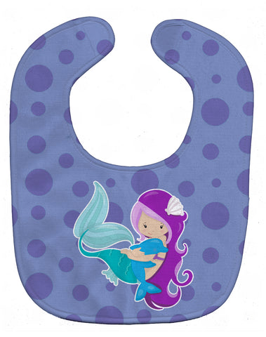 Buy this Beach Mermaid Purple Baby Bib BB8821BIB