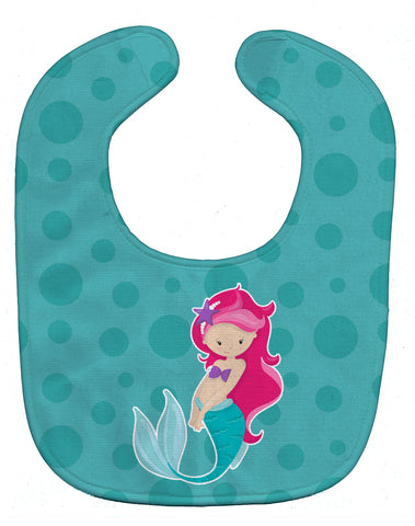 Buy this Beach Mermaid Pink Hair Baby Bib BB8825BIB
