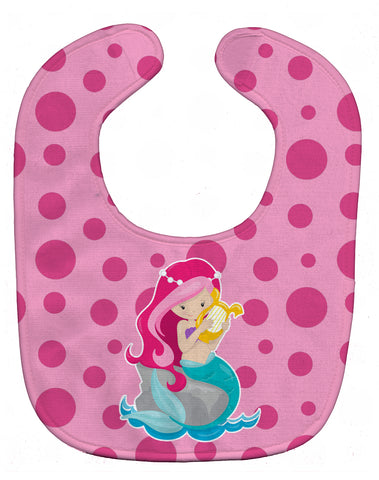 Buy this Beach Mermaid Pink Hair Baby Bib BB8828BIB