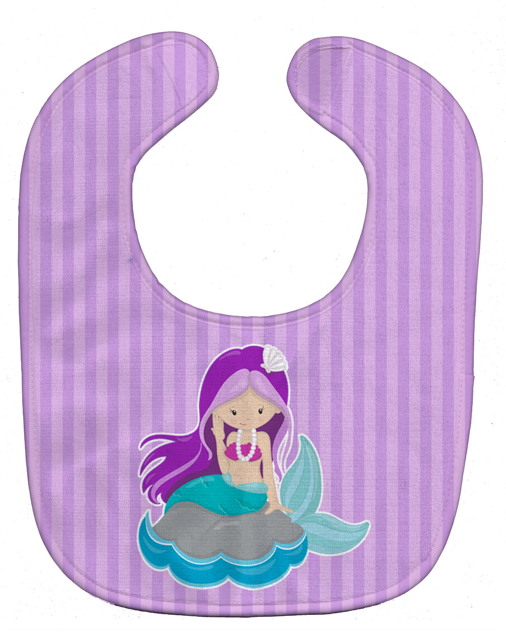 Beach Mermaid Purple Hair Baby Bib BB8831BIB by Caroline's Treasures