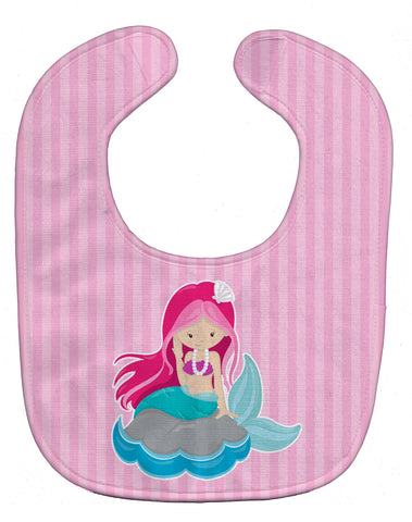 Buy this Beach Mermaid Pink Hair Baby Bib BB8832BIB