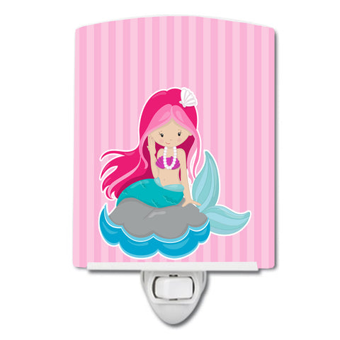 Buy this Beach Mermaid Pink Hair #3 Ceramic Night Light BB8832CNL