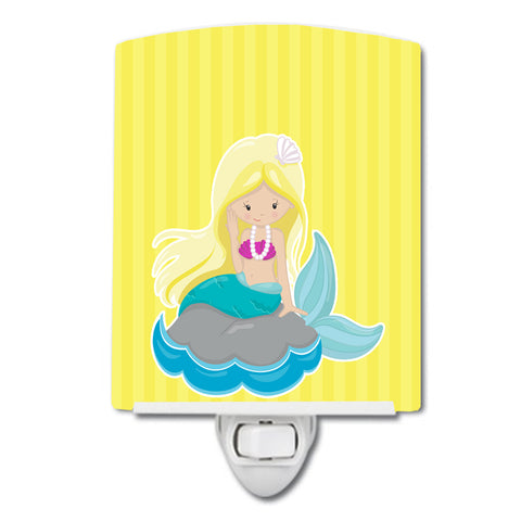 Buy this Beach Mermaid Blonde Hair #2 Ceramic Night Light BB8833CNL