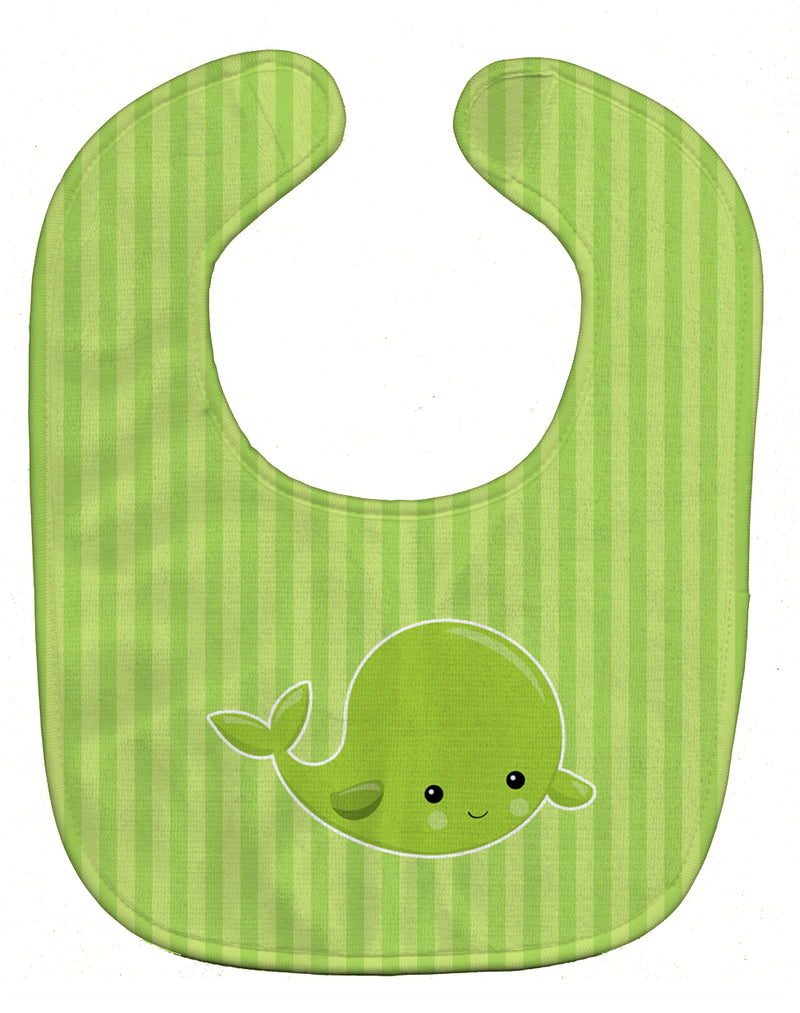Buy this Nautical Whale Green Baby Bib BB8882BIB