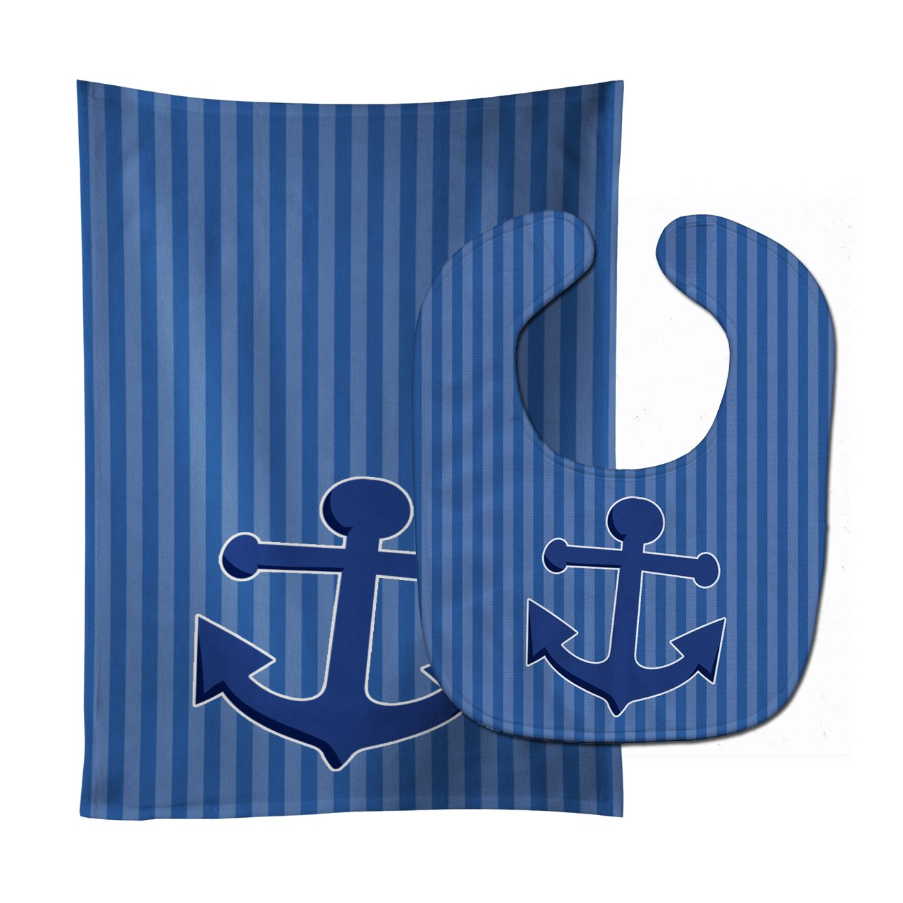 Buy this Nautical Anchor Baby Bib & Burp Cloth BB8886STBU