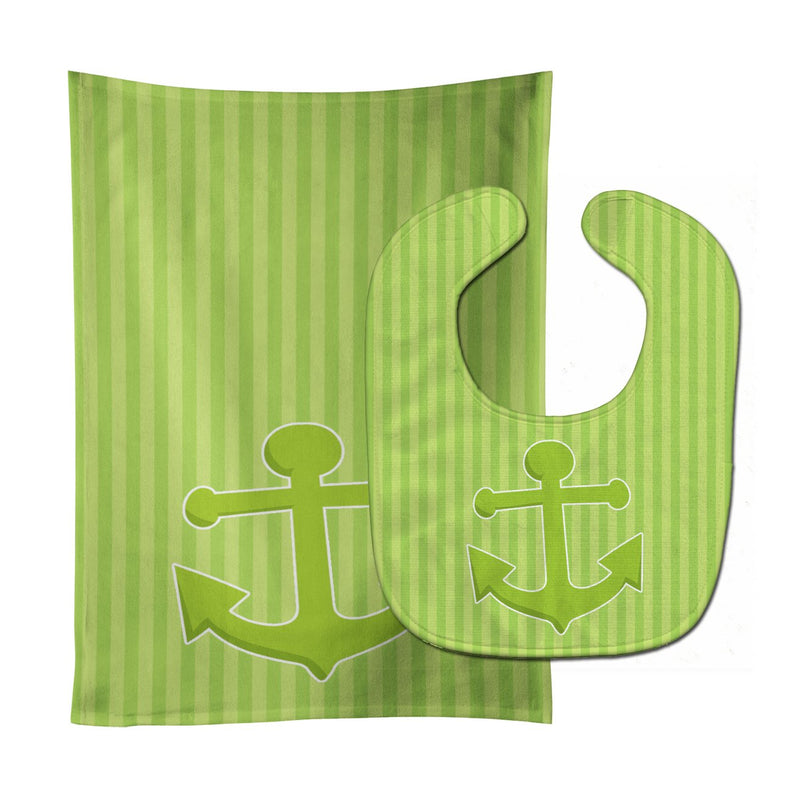 Buy this Nautical Anchor #2 Baby Bib & Burp Cloth BB8888STBU