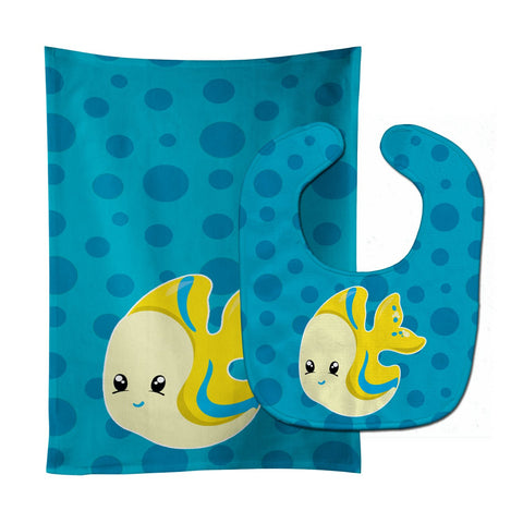Buy this Nautical Tropical Fish Baby Bib & Burp Cloth BB8899STBU