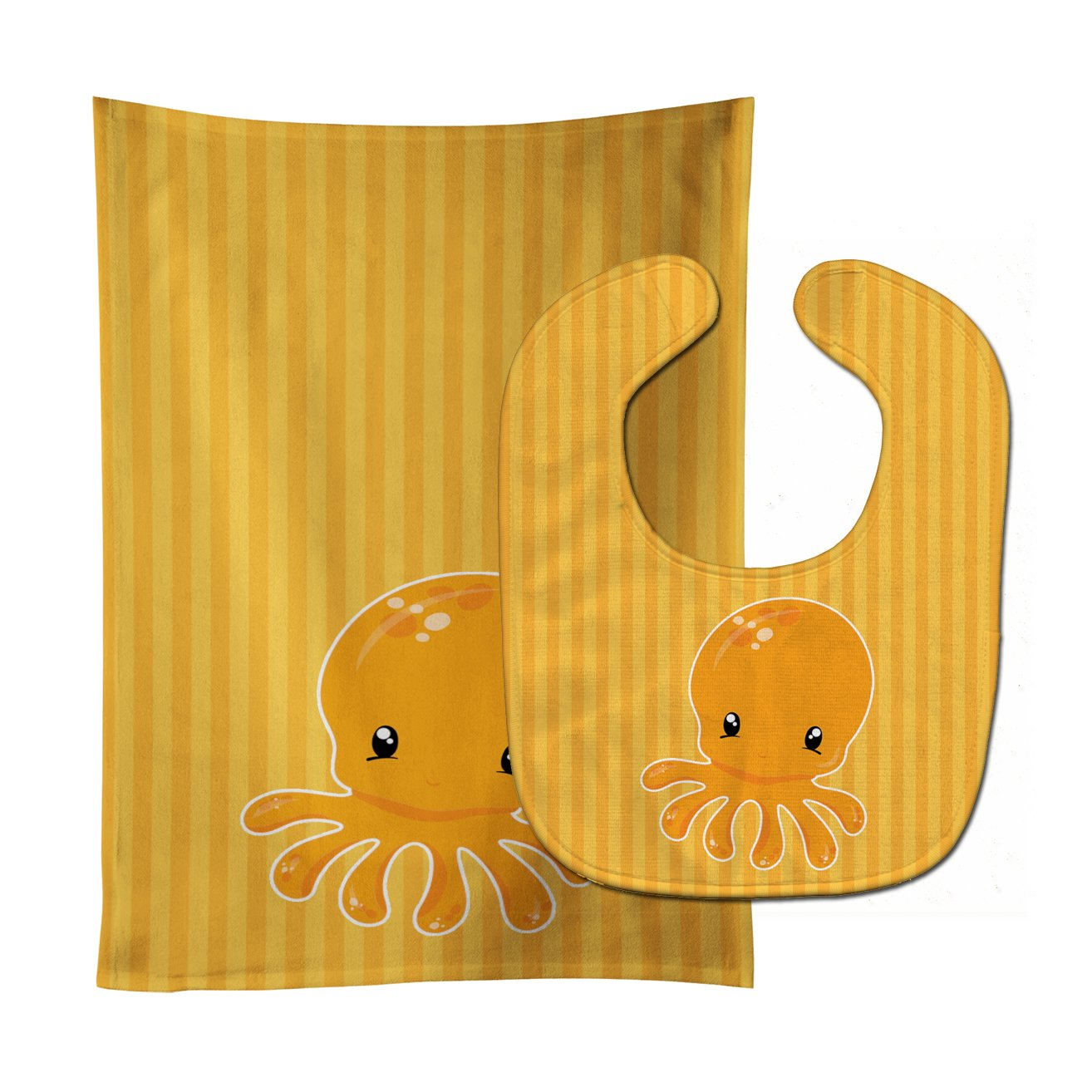 Buy this Nautical Octopus Baby Bib & Burp Cloth BB8902STBU
