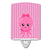 Buy this Nautical Pink Octopus #1 Ceramic Night Light BB8905CNL
