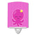 Buy this Nautical Pink Octopus #2 Ceramic Night Light BB8906CNL