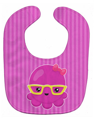 Buy this Nautical Pink Octopus with Glasses Baby Bib BB8909BIB