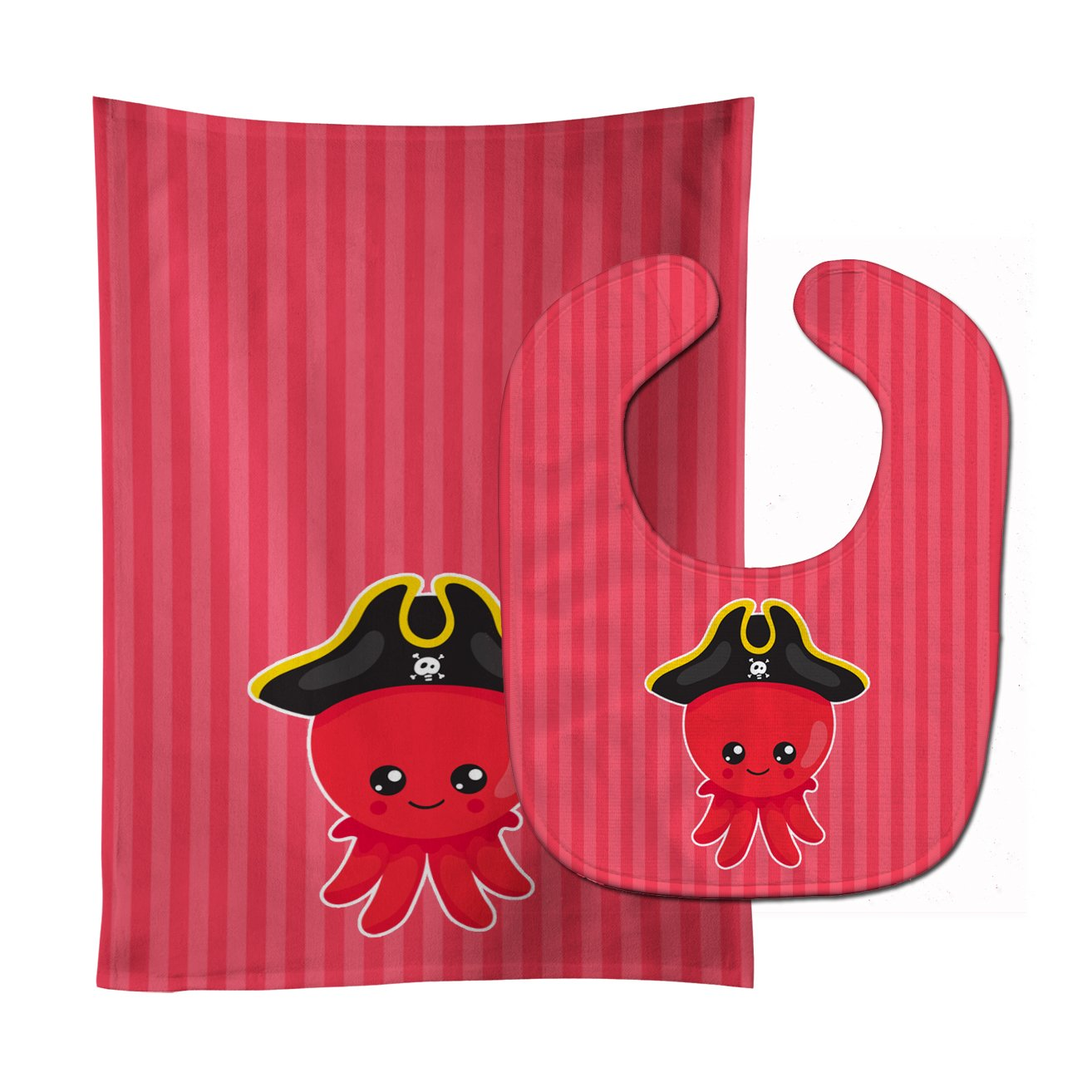 Buy this Nautical Pirate Octopus Baby Bib & Burp Cloth BB8912STBU
