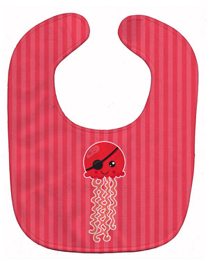Buy this Nautical Pirate Jellyfish Red Baby Bib BB8914BIB