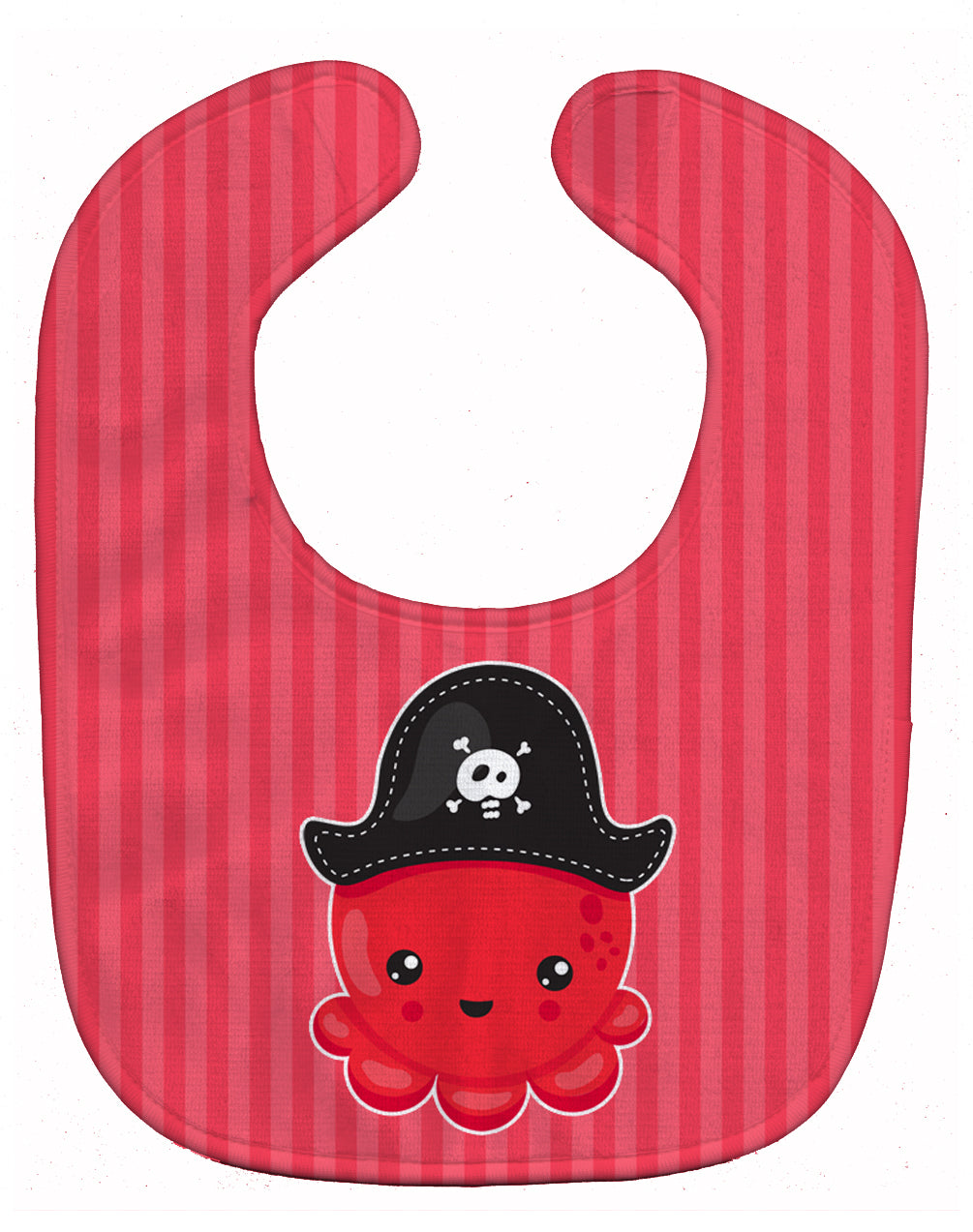 Buy this Nautical Pirate Octopus Red Baby Bib BB8918BIB