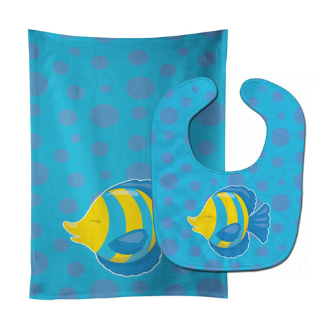 Buy this Fish Tropical Fish Baby Bib & Burp Cloth BB8952STBU