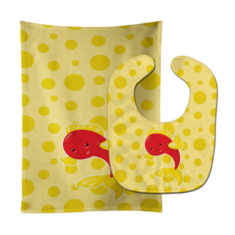 Buy this Fish Tropical Fish #2 Baby Bib & Burp Cloth BB8953STBU