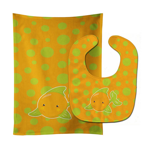 Buy this Fish Tropical Fish #3 Baby Bib & Burp Cloth BB8954STBU