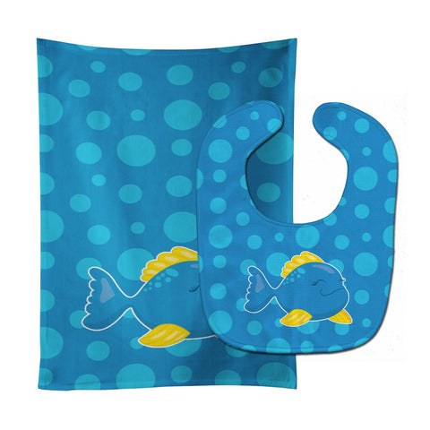 Buy this Fish Tropical Fish #4 Baby Bib & Burp Cloth BB8955STBU