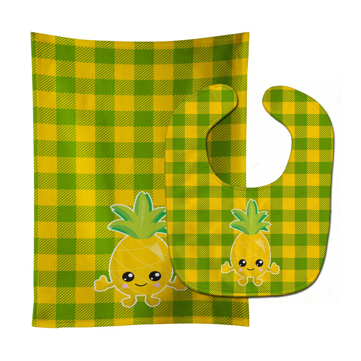 Buy this Pineapple Smily Face Baby Bib & Burp Cloth BB8958STBU