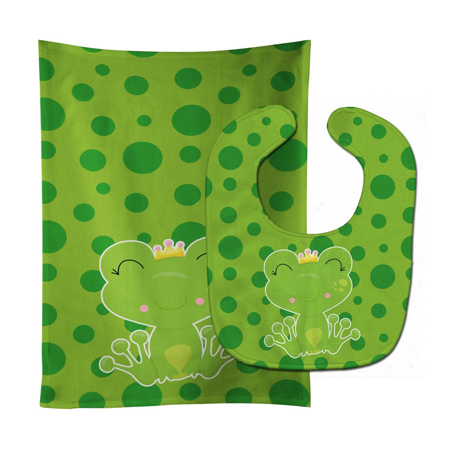 Buy this Frog Prince Baby Bib & Burp Cloth BB8987STBU