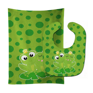 Buy this Frog Prince and Princess Baby Bib & Burp Cloth BB8988STBU