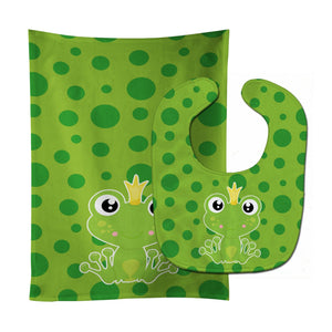 Buy this Frog Prince #2 Baby Bib & Burp Cloth BB8989STBU