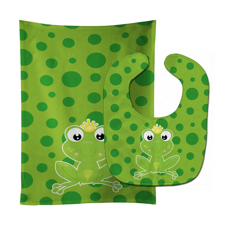 Buy this Frog Prince #3 Baby Bib & Burp Cloth BB8990STBU