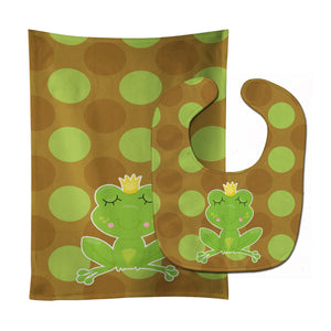 Buy this Frog Prince #4 Baby Bib & Burp Cloth BB8991STBU