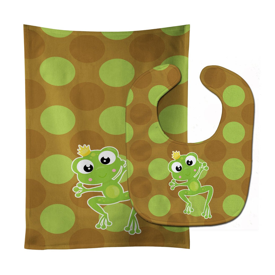 Buy this Frog Prince #5 Baby Bib & Burp Cloth BB8992STBU