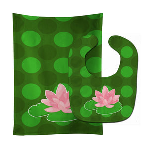 Buy this Frog Lily Pad Baby Bib & Burp Cloth BB8994STBU