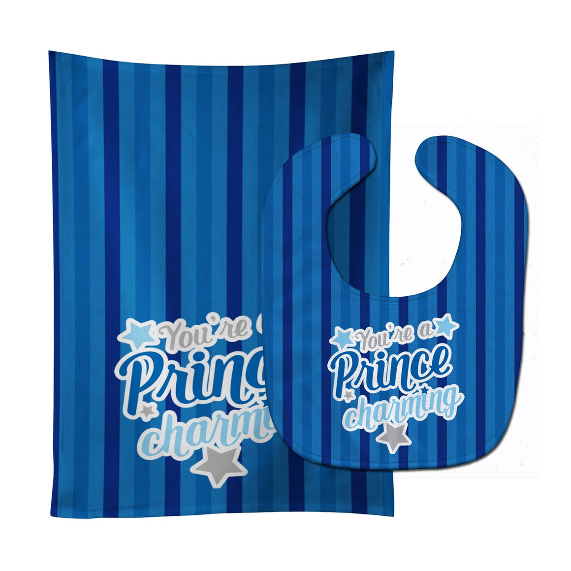 Buy this You're a Prince Charming Baby Bib & Burp Cloth BB9002STBU