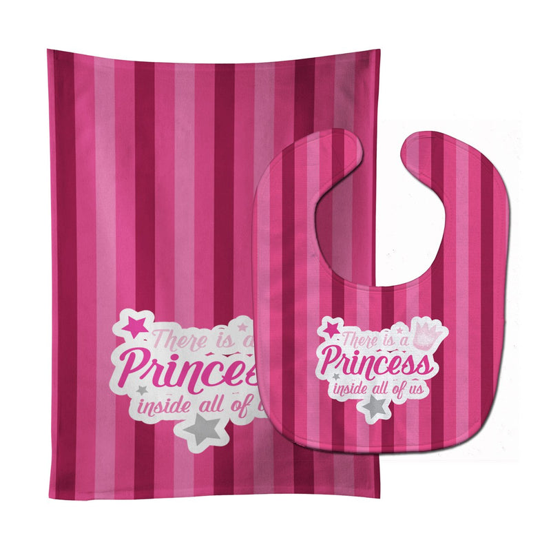 Buy this There is a Princess iside all of us Baby Bib & Burp Cloth BB9006STBU