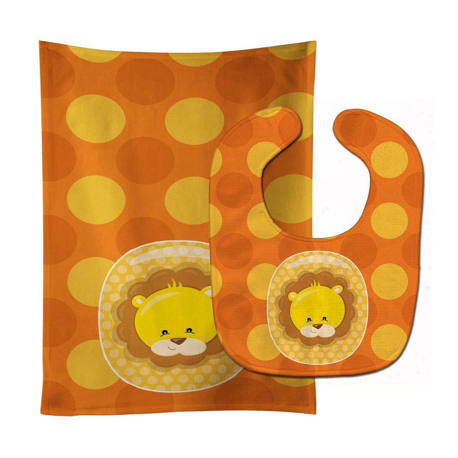 Buy this Zoo Month 0 Lion Baby Bib & Burp Cloth BB9007STBU