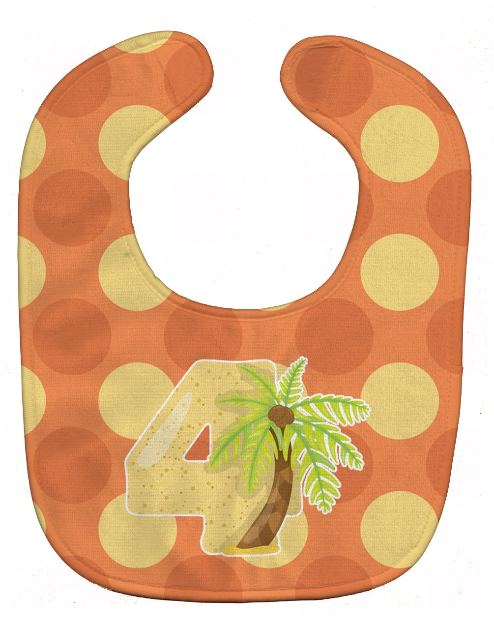 Zoo Month 4 Palm Tree Baby Bib BB9011BIB by Caroline's Treasures
