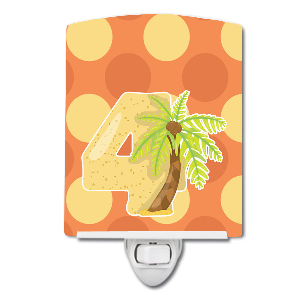 Zoo Month 4 Palm Tree Ceramic Night Light BB9011CNL by Caroline's Treasures