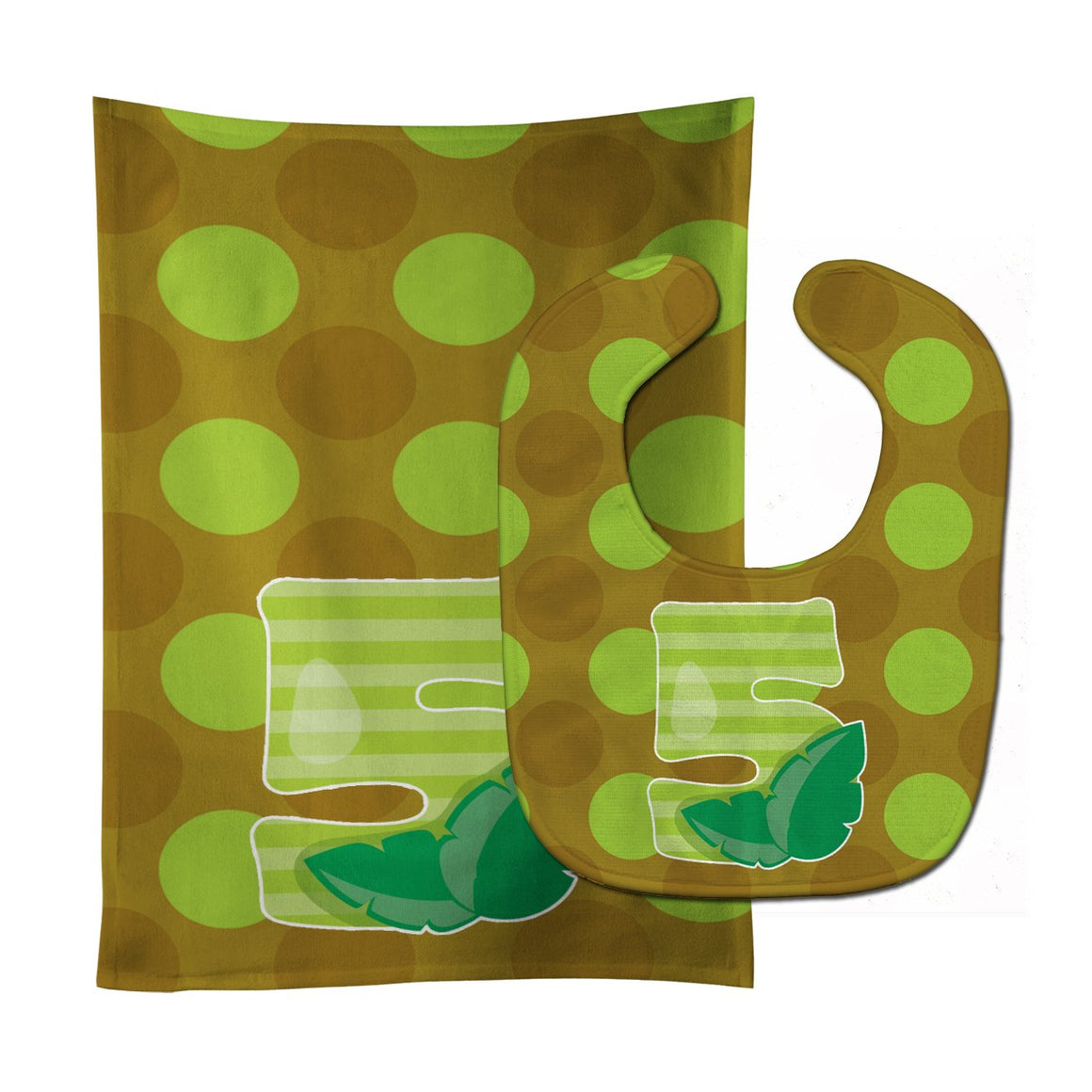 Buy this Zoo Month 5 Baby Bib & Burp Cloth BB9012STBU