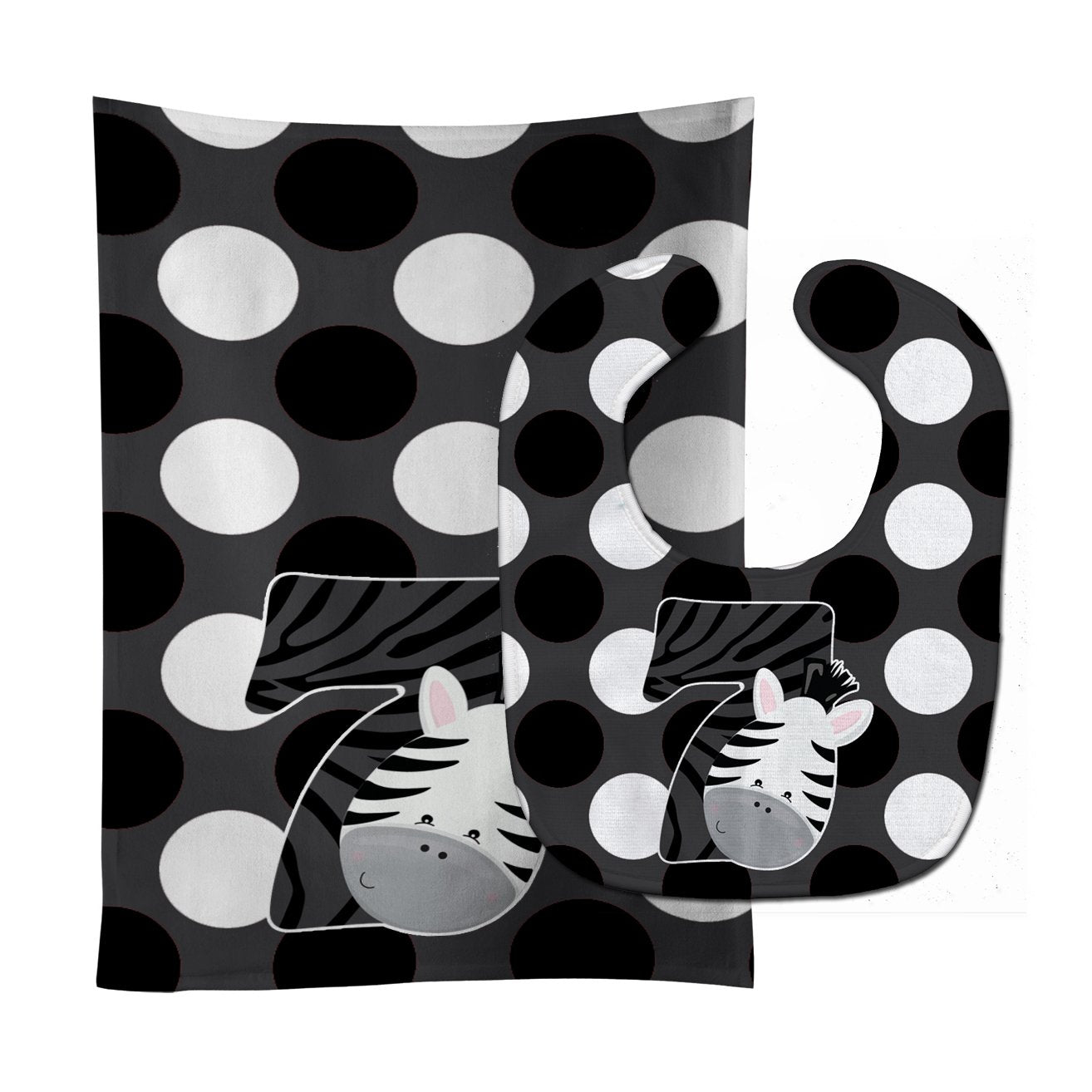 Buy this Zoo Month 7 Zebra Baby Bib & Burp Cloth BB9014STBU