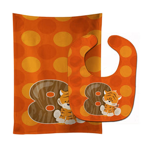 Buy this Zoo Month 8 Tiger Baby Bib & Burp Cloth BB9015STBU