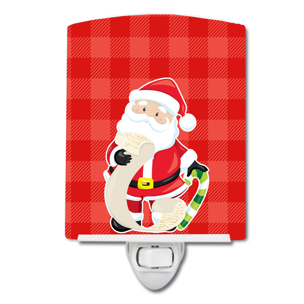 Christmas Santa Claus list Ceramic Night Light BB9021CNL by Caroline's Treasures