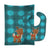 Buy this Christmas Reindeer #2 Baby Bib & Burp Cloth BB9024STBU