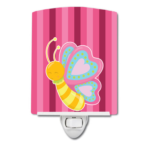 Buy this Butterfly Pink Ceramic Night Light BB9058CNL