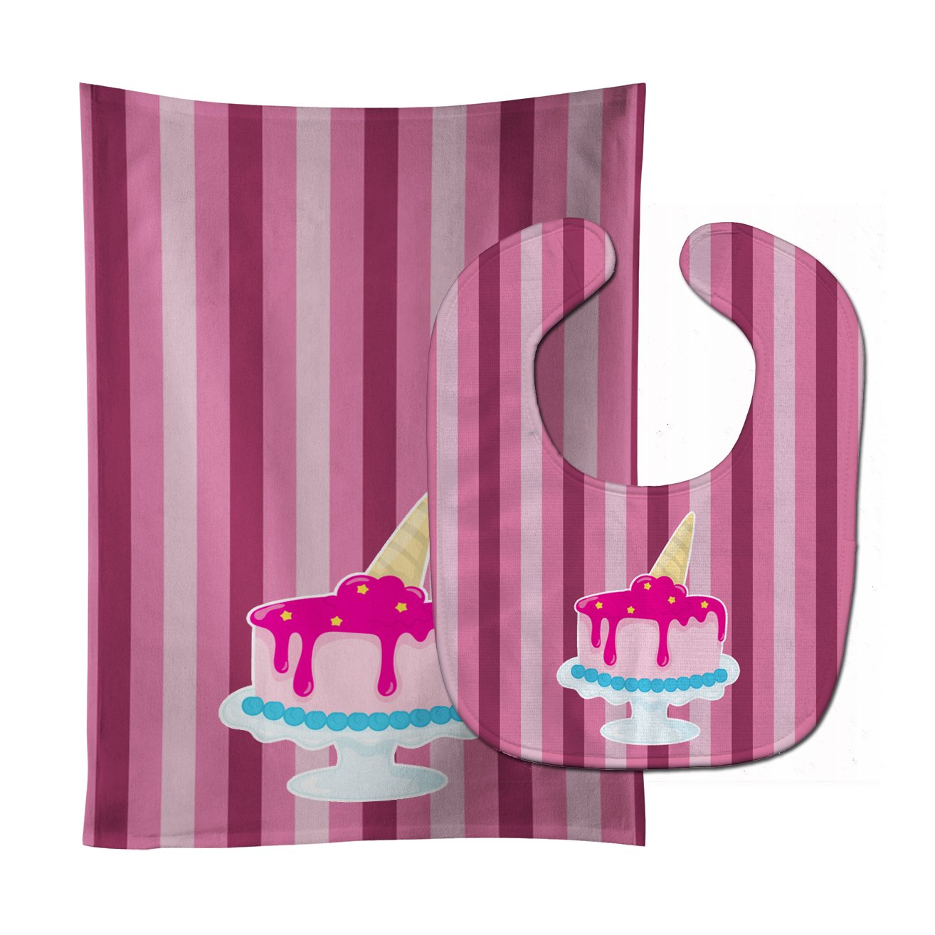 Buy this Ice Cream Cone Cake Baby Bib & Burp Cloth BB9061STBU