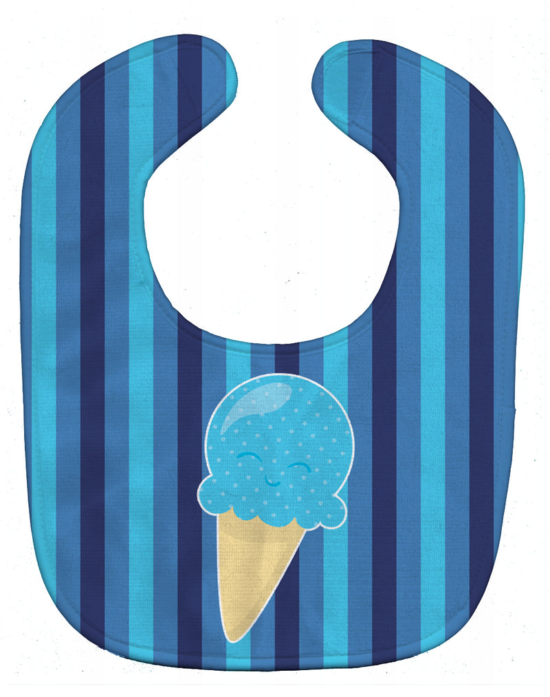 Buy this Ice Cream Cone Blue Baby Bib BB9062BIB