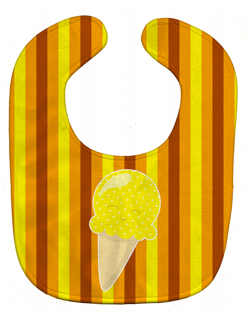 Buy this Ice Cream Cone Yellow Baby Bib BB9063BIB