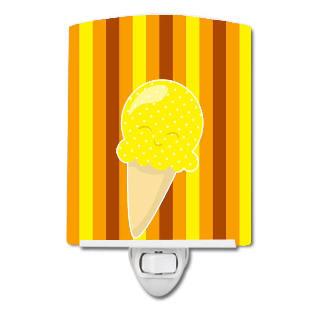 Ice Cream Cone Yellow Ceramic Night Light BB9063CNL by Caroline's Treasures