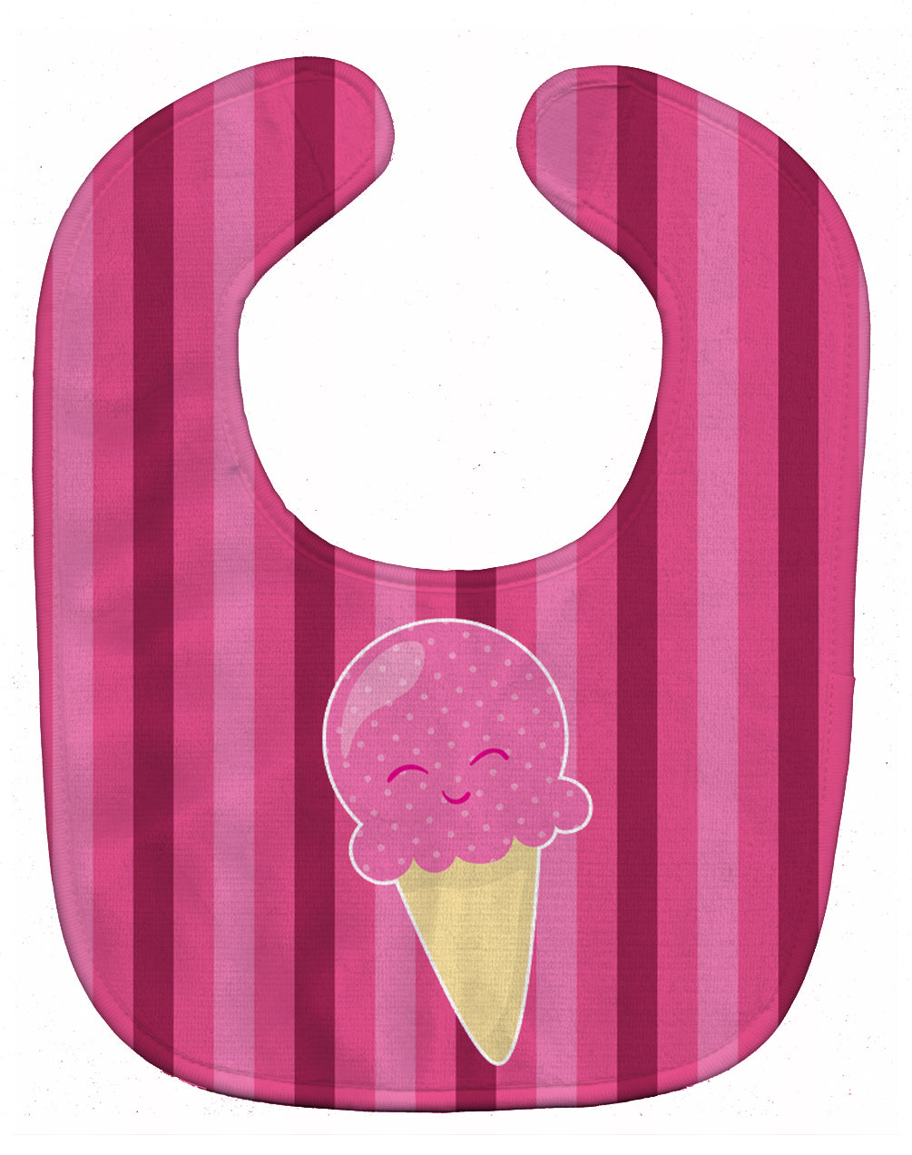 Ice Cream Cone Pink Baby Bib BB9064BIB by Caroline's Treasures